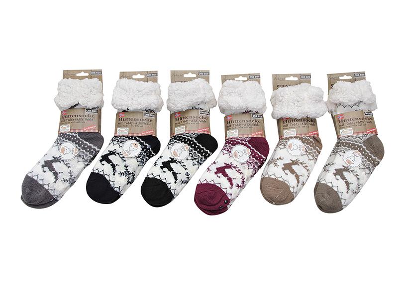 dámské zimní ponožky TEDDY jedna velikost 15x33x6 cm, akryl - 6 druhů