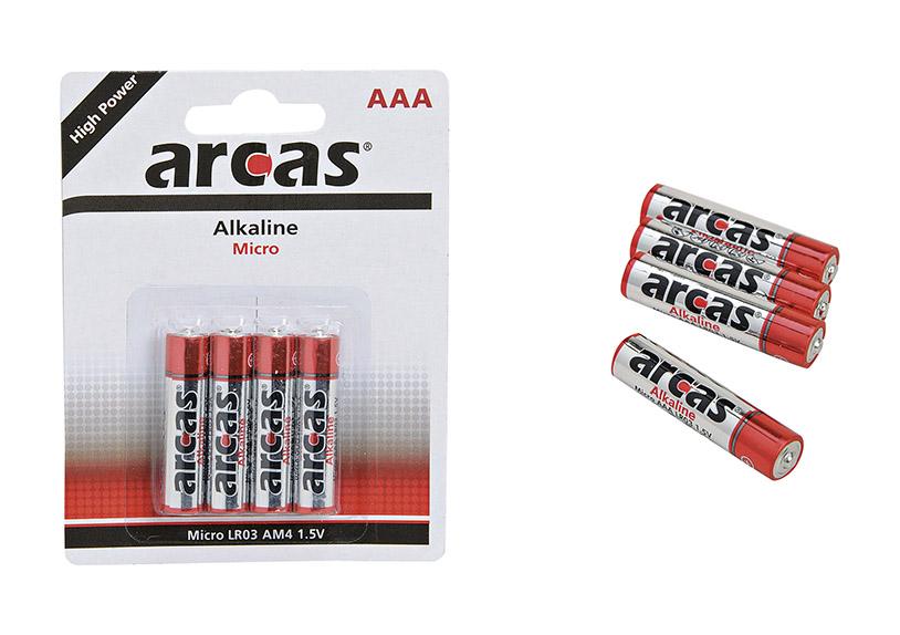 alkalická baterie AAA micro 1,5V -  4 kusy v sadě