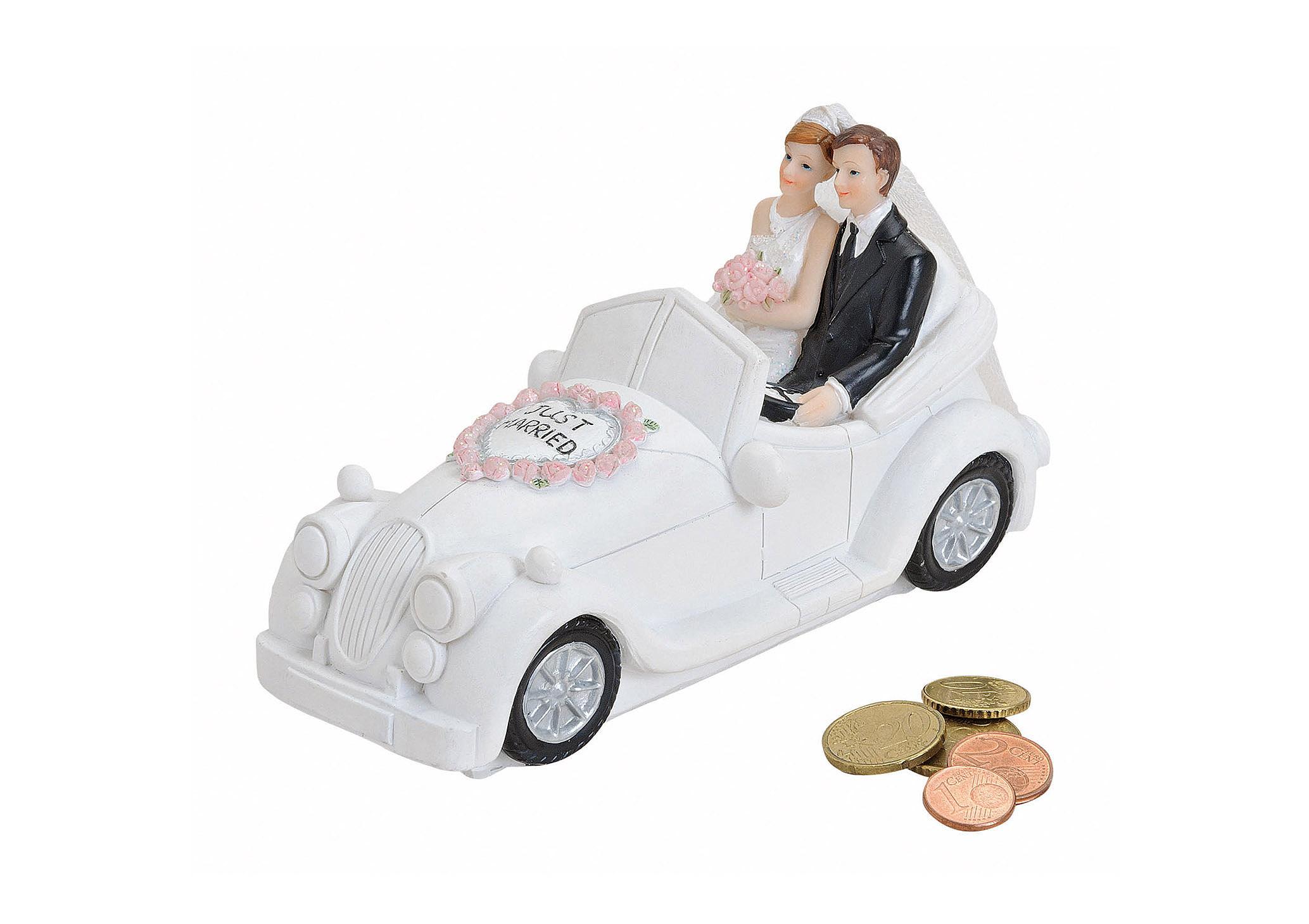 pokladnička WEDDING CAR 16x7x9 cm, polyresin