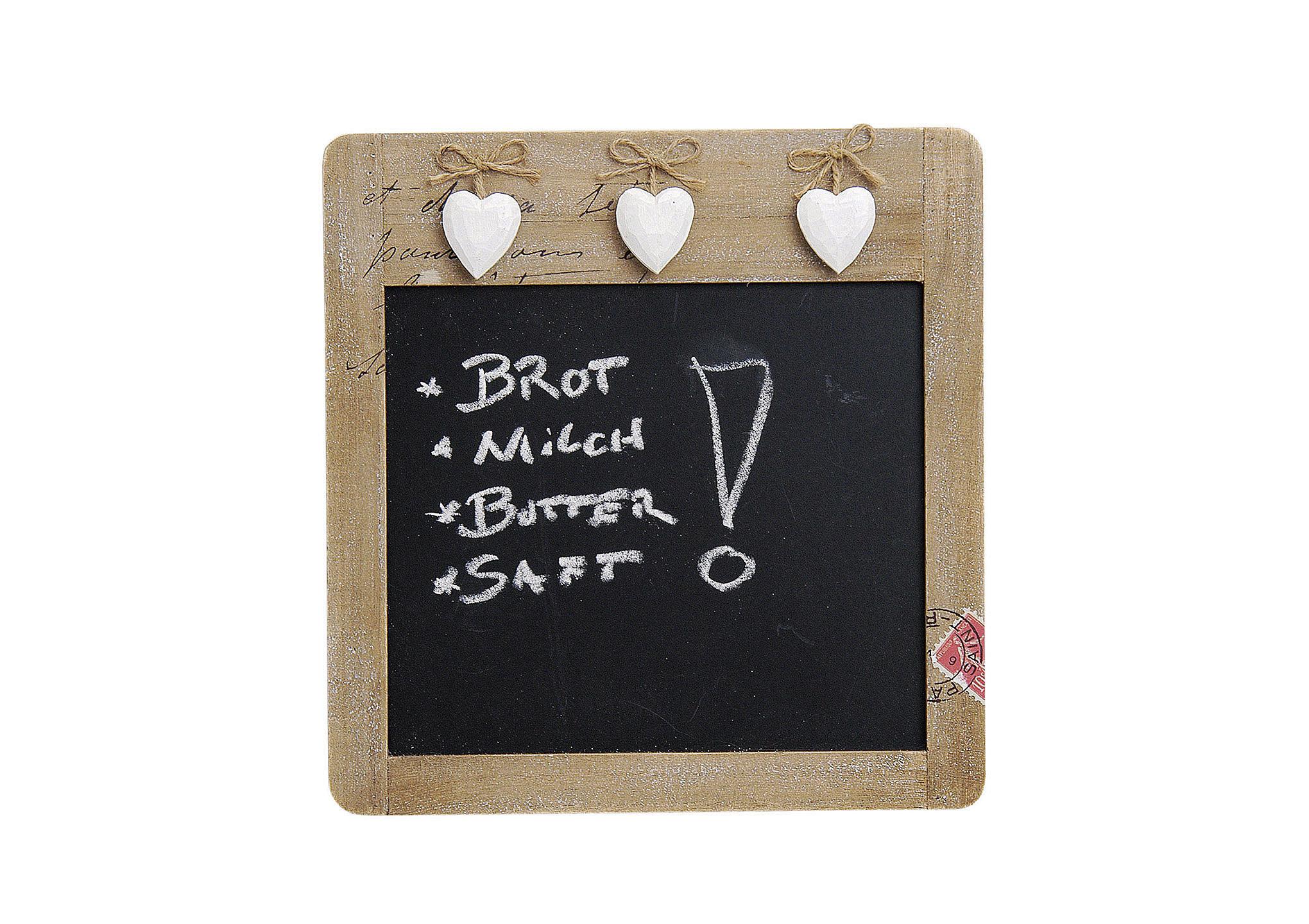 nástěnná dřevěná tabule HEARTS 28x29 cm