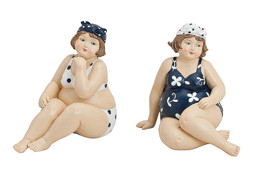 dvě ženy v plavkách 13x8x12 cm, polyresin