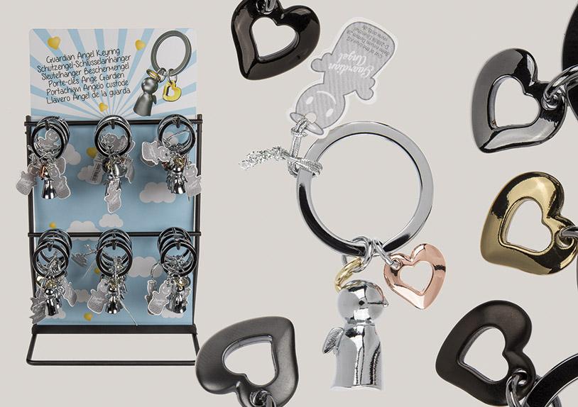 přívěšek na klíče GUARDIAN ANGEL 7 cm, kov - 6  druhů