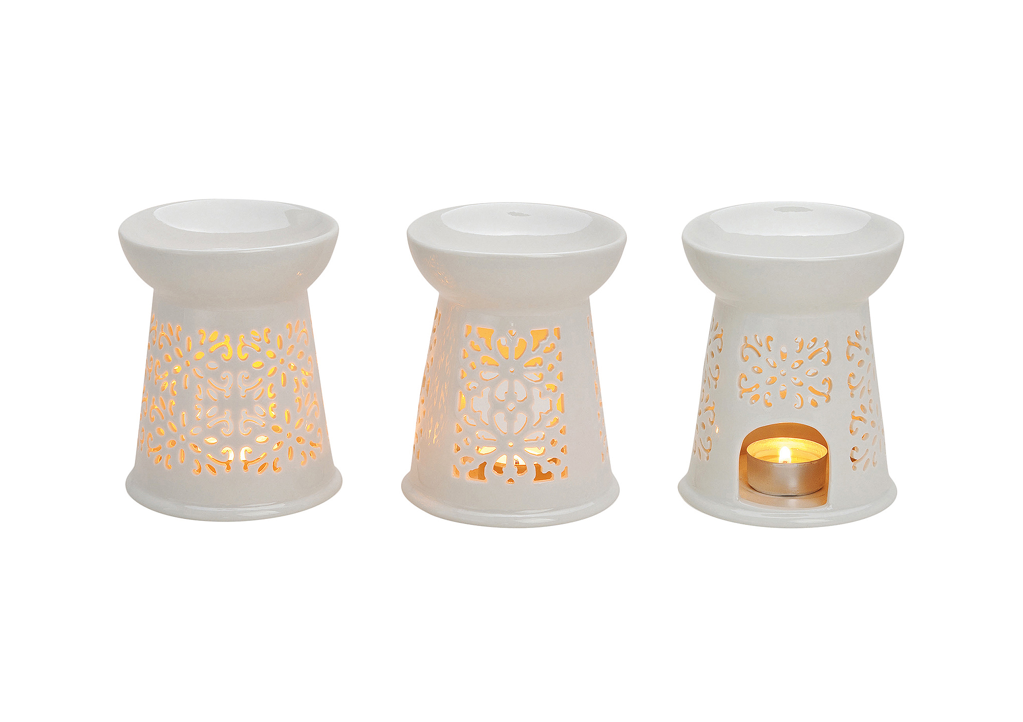 Fragrance Burner white porcelain, B13 x H10 cm