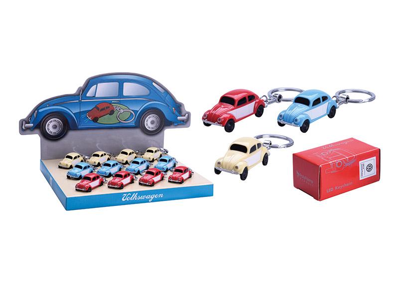 přívěšek na klíče RETRO VW 2x5x2 cm, kov a plast - 3 druhy