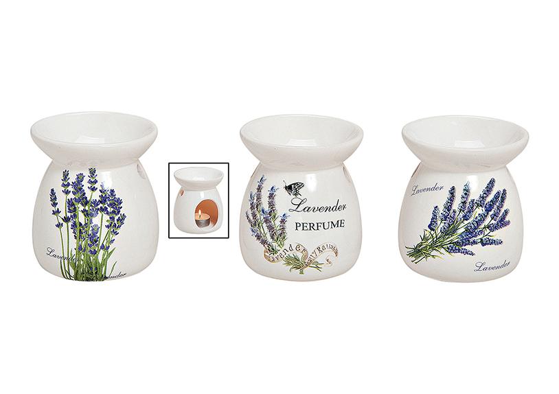 aromalampa LAVENDER 9x11 cm, keramika - 3 druhy