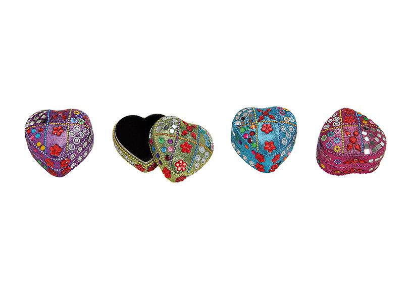 šperkovnice ORIENTAL 7x7x4 cm, kov - 4 druhy