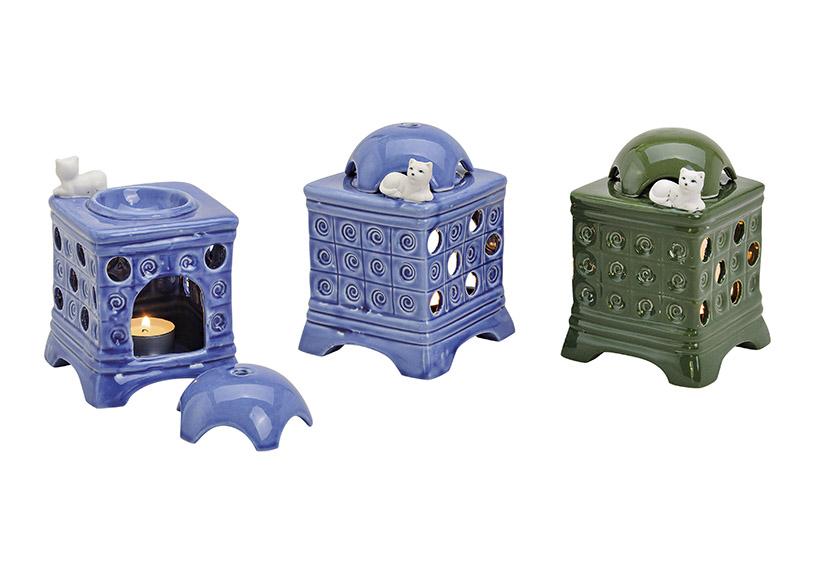Fragrance Light Tile Stove ceramic, 2 assorted, B10 x T10 x H15 cm