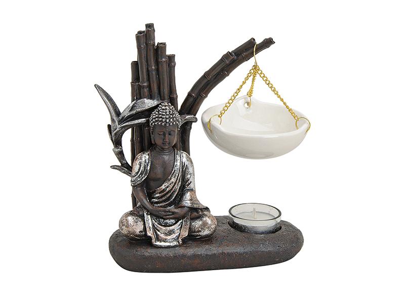 FRAGRANCE BURNER BUDDHA POLY/CERAMIC 19X8X20CM