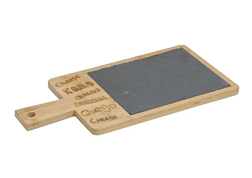 prkénko na sýry z bambusu a břidlice 36x18 cm