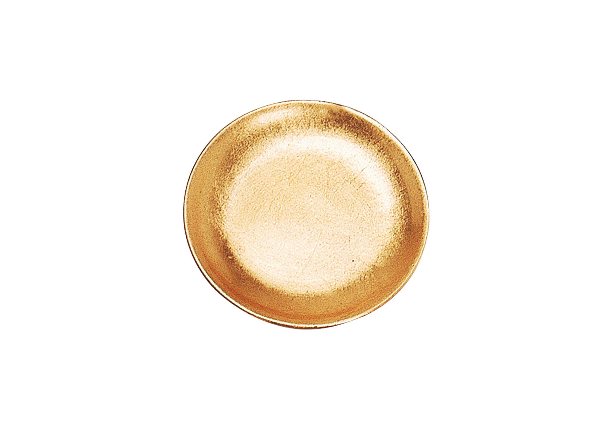 tác 11 cm , glazura, barva zlatá