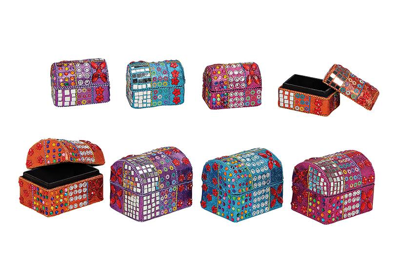 šperkovnice ORIENTAL 11x8x9 cm, dřevo a kartonový papír - 4 druhy