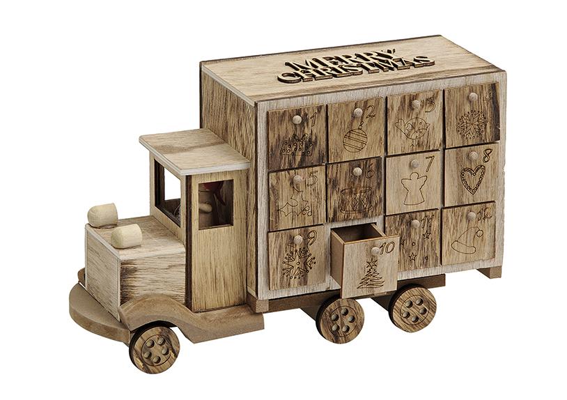 adventní kalendář TRUCK 29x10x19 cm, dřevo