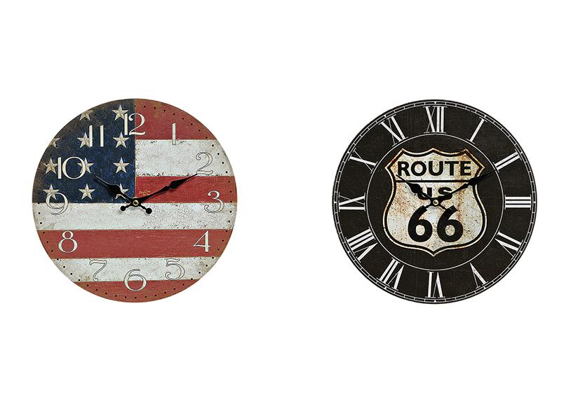 nástěnné hodiny USA 29 cm, dřevo - 2 druhy