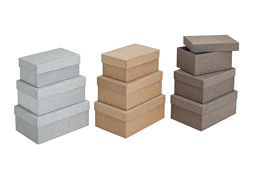 sada tří kartonových krabic - 3 druhy