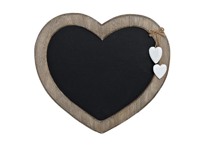 nástěnná dřevěná tabule HEARTS 30x27 cm