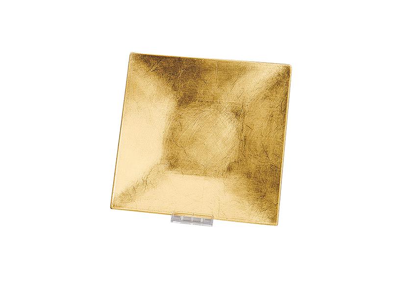 tác 24x24, plast, barva zlatá