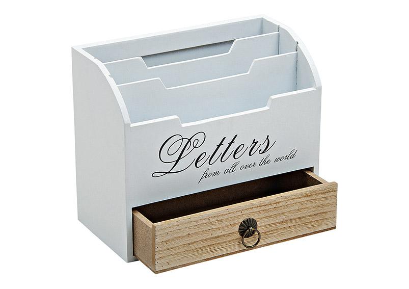 LETTER BOX WOOD 20X10X17 CM