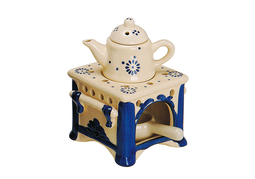 Fragrance Burner ceramic, 10X10X1 5CM