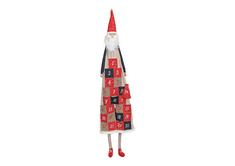 adventní kalendář SANTA 49x148x4 cm, textil