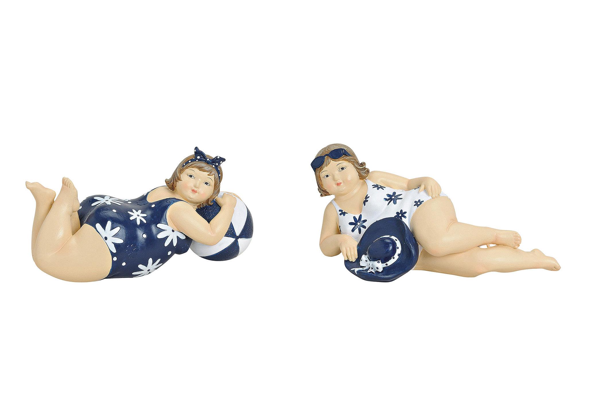 dvě ženy v plavkách 20x8x8 cm, polyresin