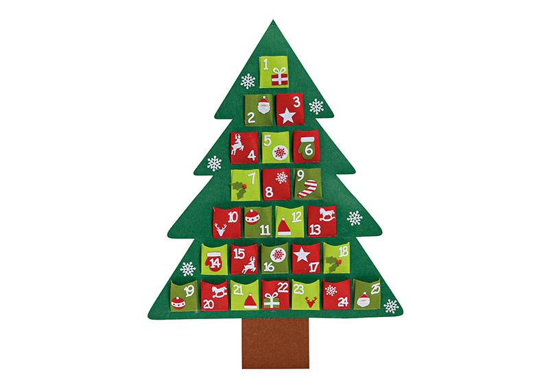 adventní kalendář TREE 74x100 cm, filc
