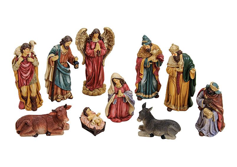deset figurek do betlému 7-21 cm, polyresin