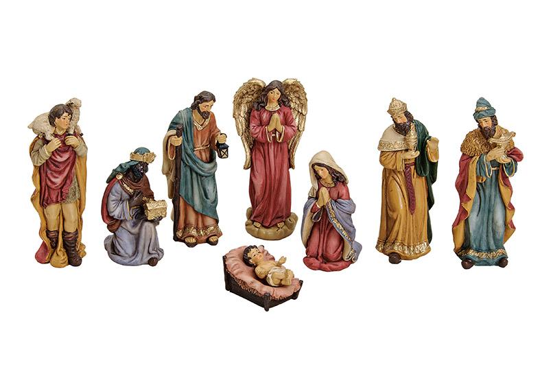 osm figurek do betlému 5-16 cm, polyresin