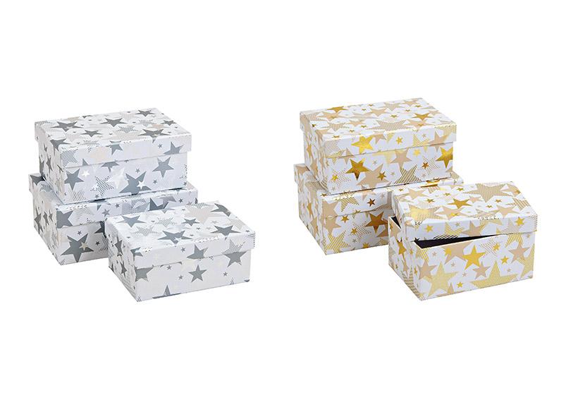 sada tří kartonových krabic STAR 21x9x14 cm - 2 druhy