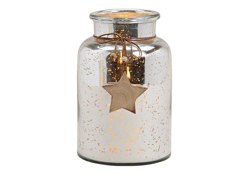 skleněná láhev STAR SILVER 16x25x16 cm
