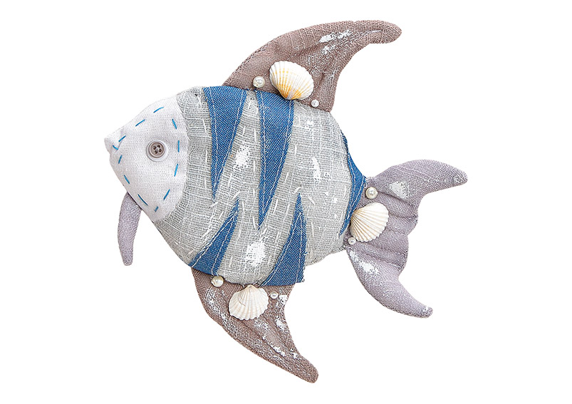 závěsná ryba z textilu 19x21x4  cm