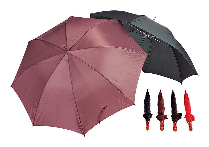 deštník JUMBO s dřevěnou rukojetí ⌀130 cm - 4 druhy
