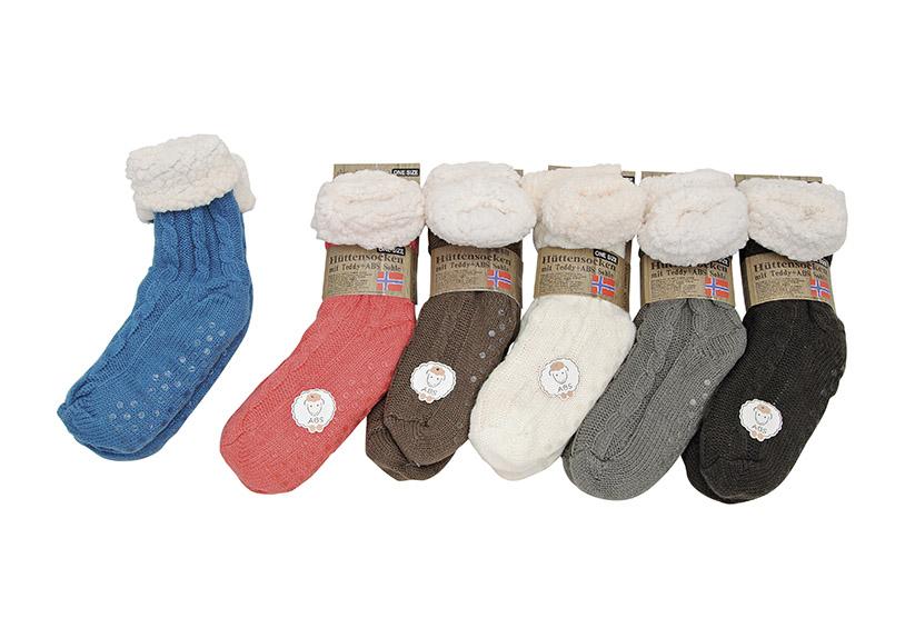 dámské zimní ponožky TEDDY jedna velikost 24 cm, textil a plyš - 6 druhů