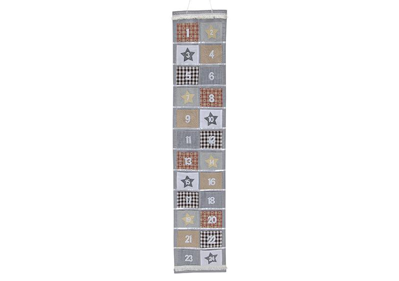adventní kalendář 29x150 cm, filc