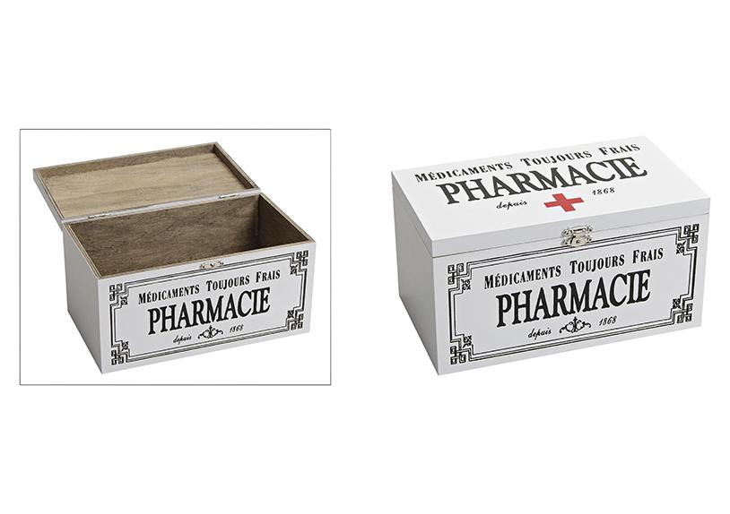 dřevěná lékárnička 24x14x13 cm