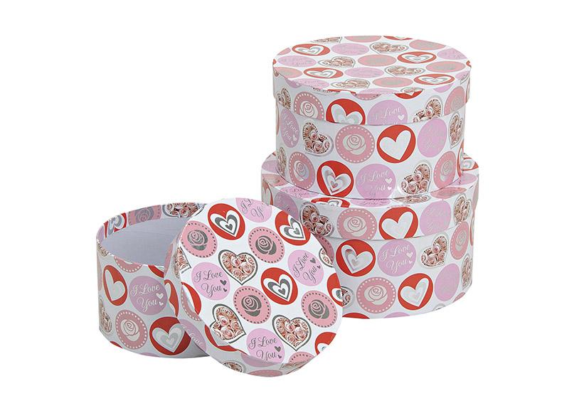 sada tří kartonových krabic HEART 18x10x18 cm