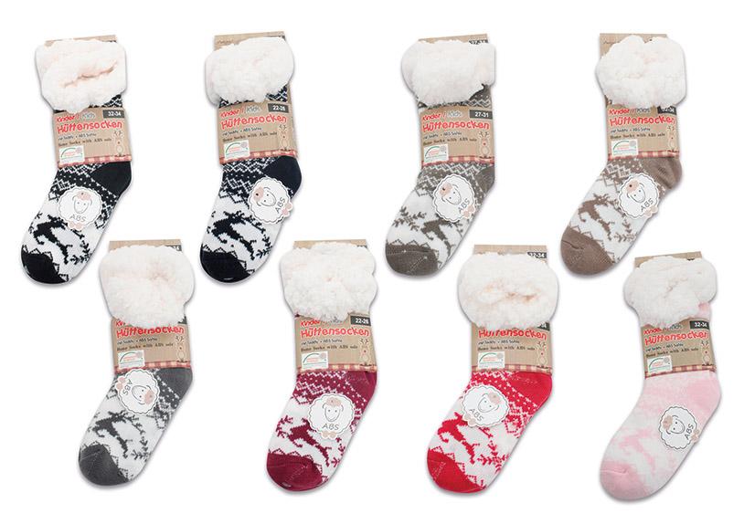 dětské zimní ponožky TEDDY 22-26/27-31/32-34, textil a plyš - 8 druhů
