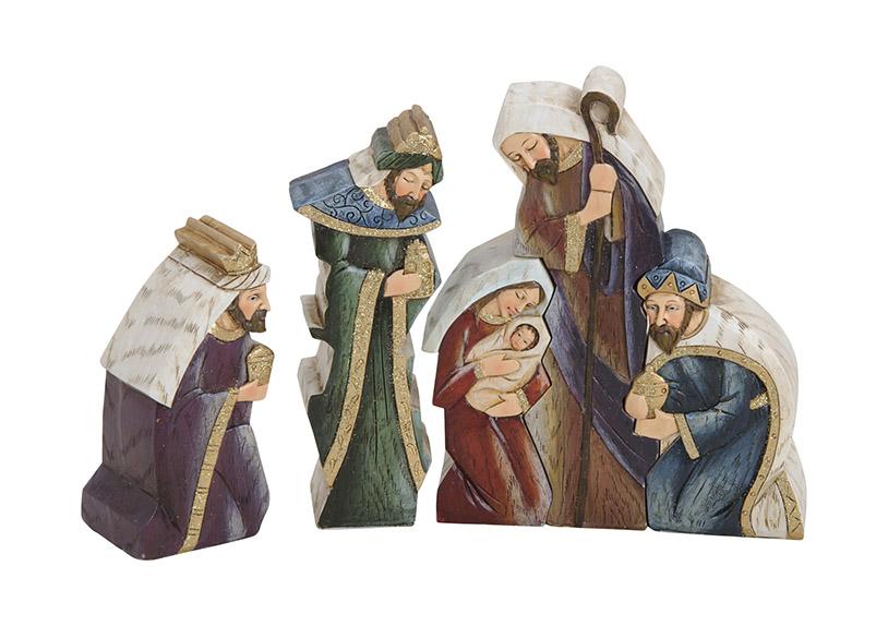 pět figurek do betlému 22x4x16 cm, polyresin