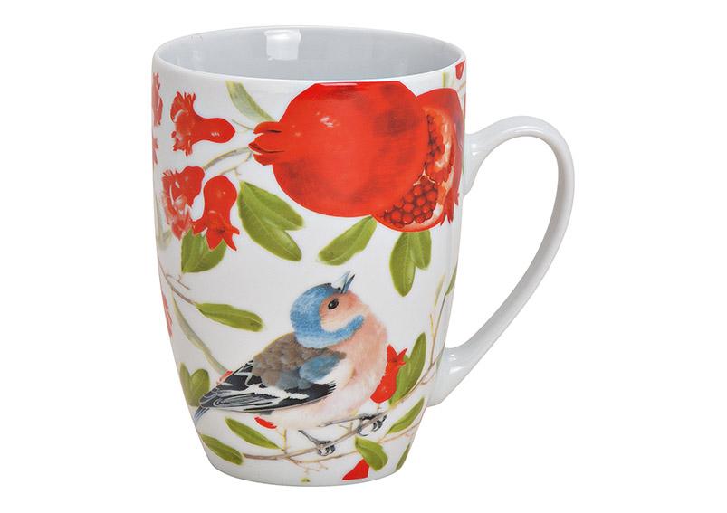 porcelánový hrníček BIRD FLOWER 12x11x8 cm