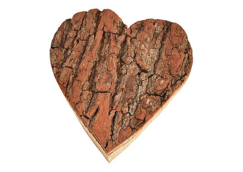 srdíčko z dřevěné kůry 15x15x2 cm