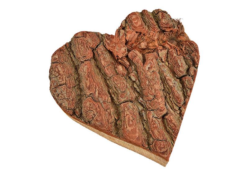 srdíčko z dřevěné kůry 20x20x2 cm