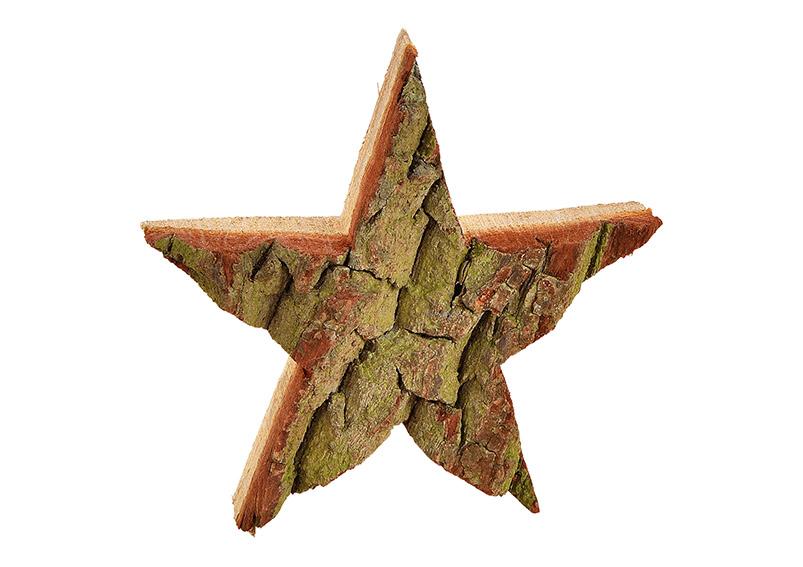 hvězda z dřevěné kůry 15x15x3 cm