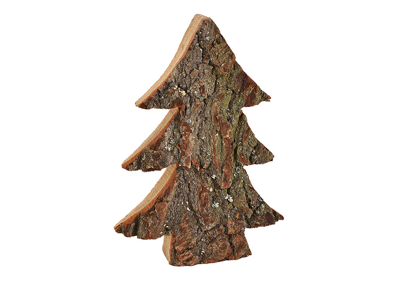 stromek z dřevěné kůry 17x25x4 cm