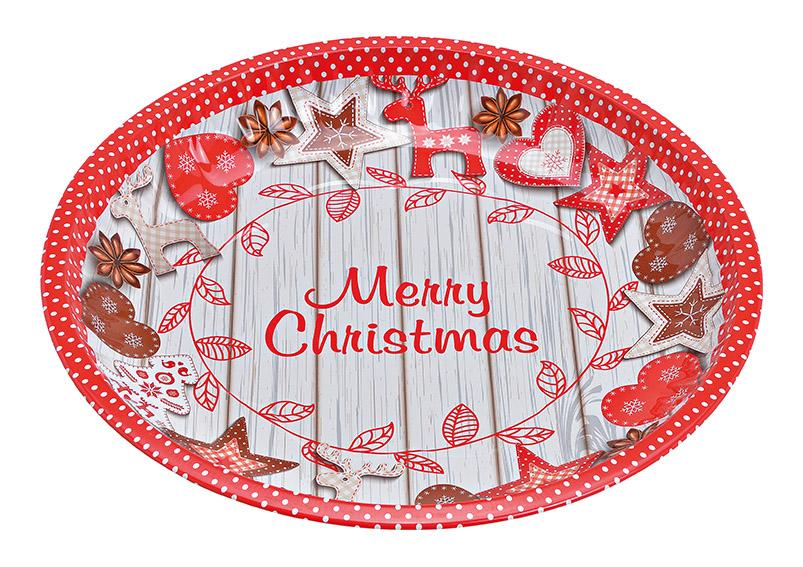 plechový tác MERRY CHRISTMAS 25x3x25 cm