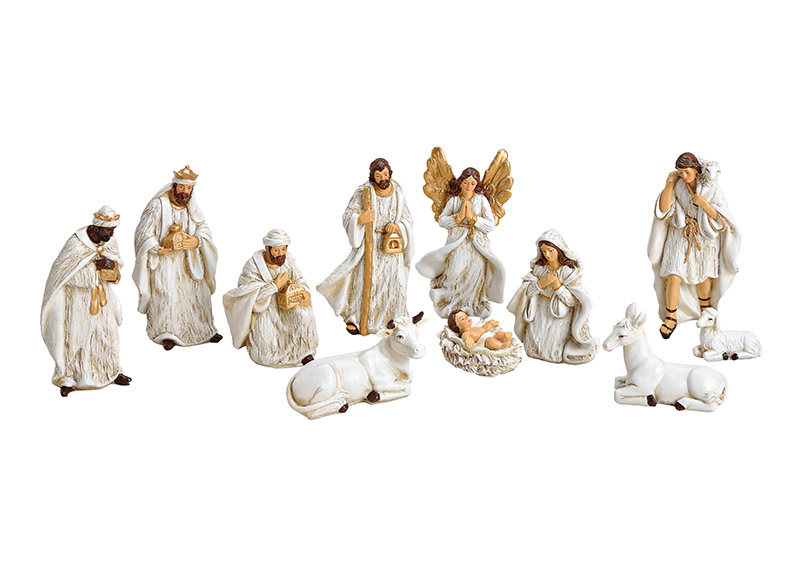 jedenáct figurek do betlému 4-15 cm, polyresin