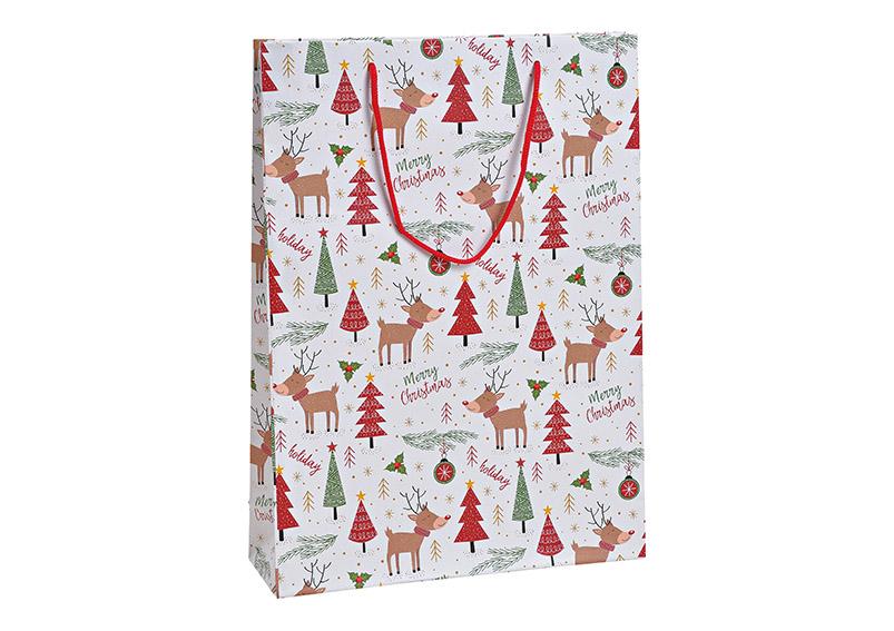 dárková taška MERRY CHRISTMAS 25x34x8 cm