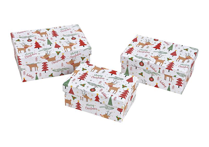 sada tří kartonových krabic DEER 22x7x14 cm