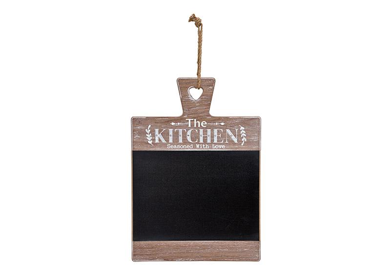 závěsná dřevěná tabule KITCHEN 32x43x2 cm