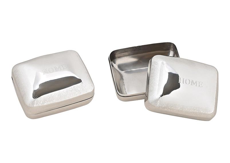 krabička kovová HOME 11x7x9 cm