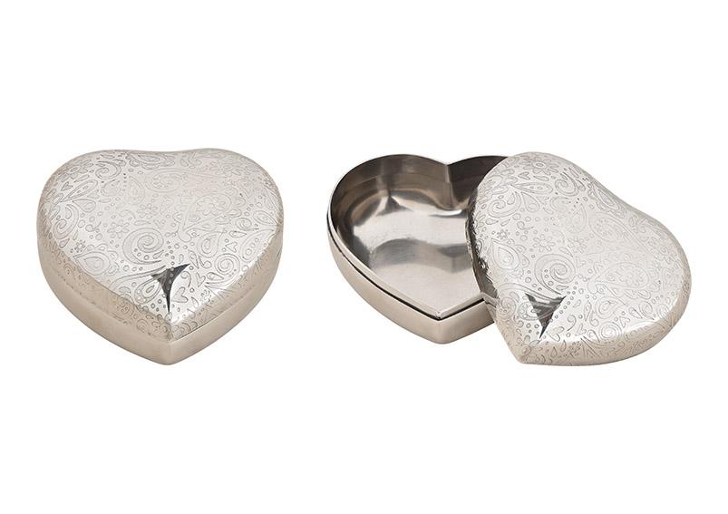 krabička kovová HEART 10x6x10 cm