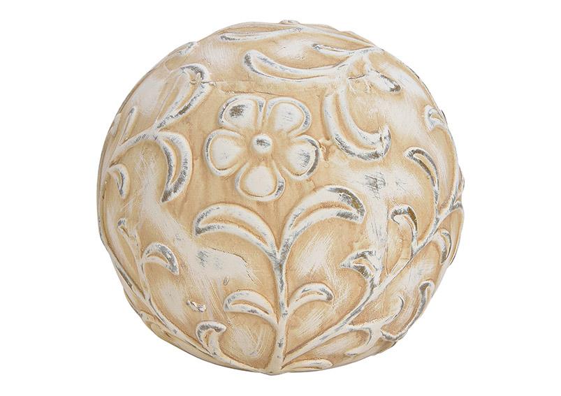 zahradní dekorace BALL 19x19x18 cm, jíl